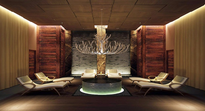 Viceroy Snowmass spa relaxation area, Aspen, Colorado USA